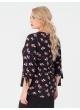 блуза Дороти (чёрный/принт)