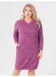 платье Ариша (розовый/принт/штрихи)
