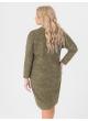 платье Ариша (зелёный/принт/штрихи)