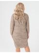 платье Ариша (бежевый/принт/штрихи)