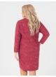платье Ариша (красный/принт/штрихи)