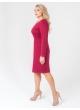 платье Дора (капучино/красный)