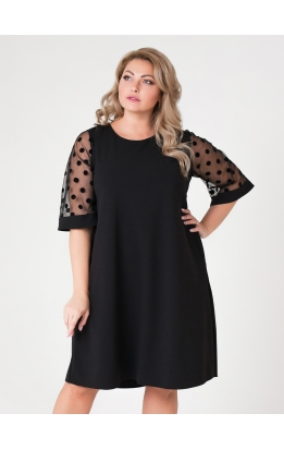платье Барселона2 (чёрный/горох)
