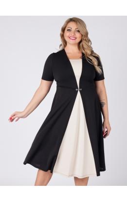 платье Челси (чёрный/бежевый)