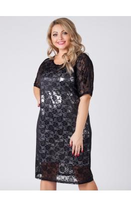 платье Саманта (чёрный/белый)