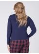 блуза Лонгслив (тёмно-синий)