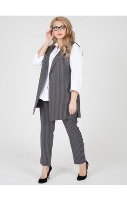 костюм Тренч (серый/полоска)