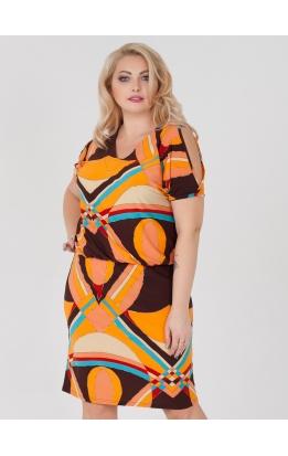платье Ульяна (оранжевый/мульти)