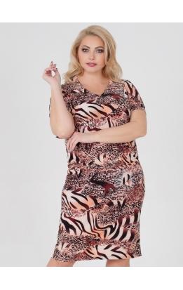 платье Ульяна (бежевый/зебра/питон)