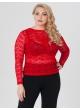 блуза Иванка (красный/кружево)
