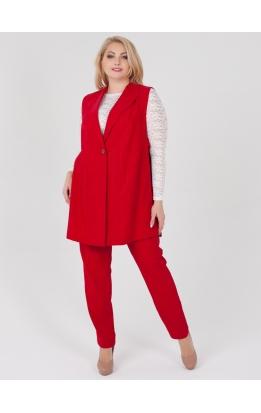 костюм Тренч2 (красный/люрекс)