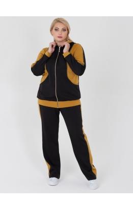 спортивный костюм Клайд (чёрный/горчица)
