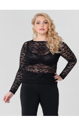 блуза Иванка1 (черный/кружево)