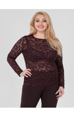 блуза Иванка2 (коричневый)