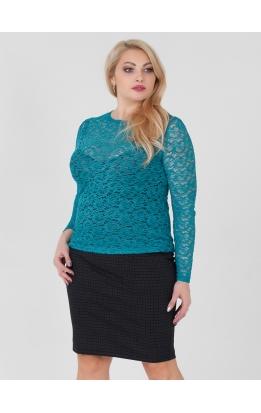 блуза Иванка2 (бирюза)