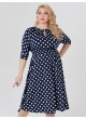 платье Софи2 (синий/крупный горох)