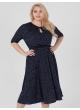 платье Софи2 (синий/мелкий горох)