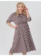 платье Софи2 (капучино/крупный горох)