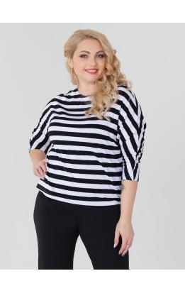 Блуза Дженни Пол (полоска чёрная широкая)
