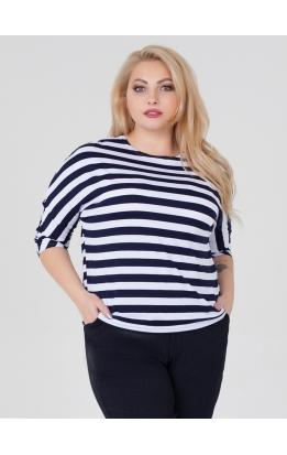 Блуза Дженни Пол (полоска синяя широкая)