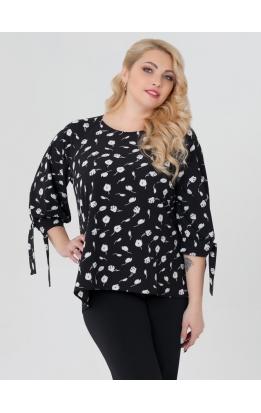 блуза Дороти (чёрный/лилии)