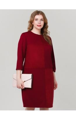 платье Чесс (бордо/замша)