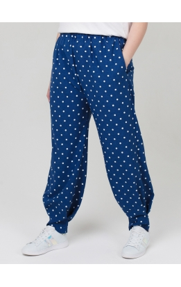 брюки Алсу2 (синий/горох)