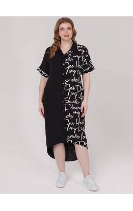 платье Элли (черный/буквы)