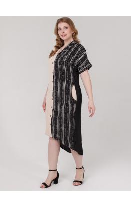 платье ЭллиБлэк (бежевый/буквы)