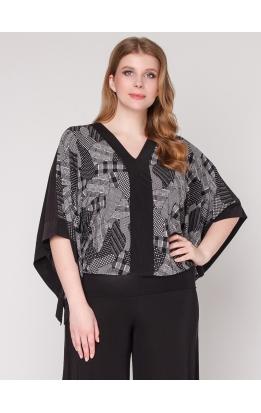 блуза Анкара (черный/латки)