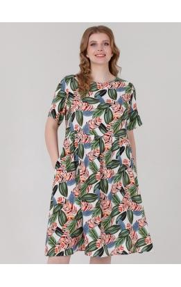 платье Дримс (принт / оранжево-серый)