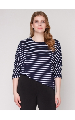 Блуза Дженни Пол (полоска / узкая / синяя)