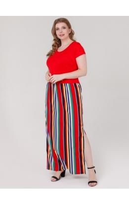 платье Иветта (красный/полоска)