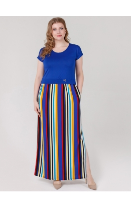 платье Иветта (электрик/полоска)
