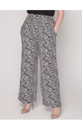 брюки Терра (черно-белый/зебра)