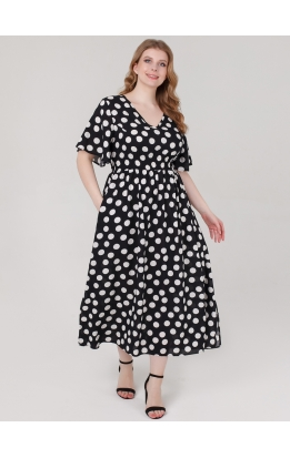 платье Лара (черный/горох)
