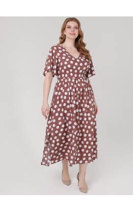 платье Лара (капучино/горох)