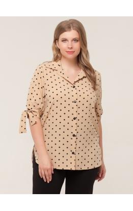 блуза Хилари (горох/бежевый)