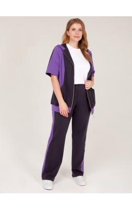 спортивный костюм Дана (серый/фиолет)
