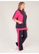 спортивный костюм Дана (серый/розовый)