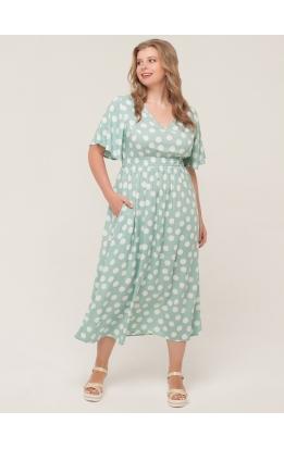 платье Лара (мята/горох)