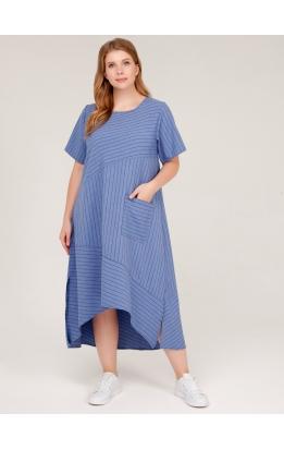 платье Кипр2 (джинс/полоска)