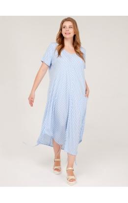 платье Сансара (джинс/полоска)