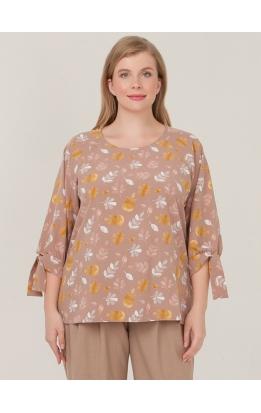 блуза Дороти (капучино/гербарий)