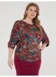 блуза Норма (терракот/бирюза)