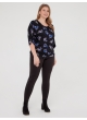 блуза Норма (черный/цветы)