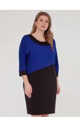 платье Квадро (черный/электрик)