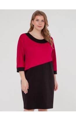 платье Квадро (черный/розовый)