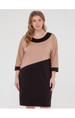 платье Квадро (черный/бежевый)