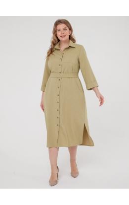 Платье-рубашка Прайм (оливковый)